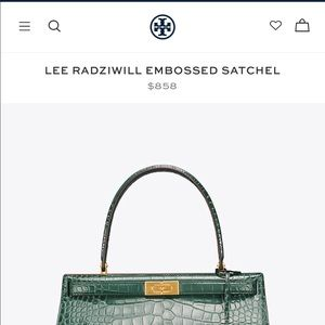 61678ab9ebbd Tory Burch Bags - Lee radziwill embossed satchel